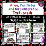 Area, Perimeter, Surface Area and Volume Task Cards (SOL 6.10 b,c,d)