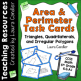 Area and Perimeter Task Cards - 6th Grade CCSS