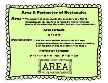 Area & Perimeter Task Cards 4.MD.A.3