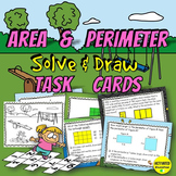 4th Grade Area & Perimeter Color by Answer Task Cards