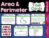 Area & Perimeter Task Cards - 3rd Grade