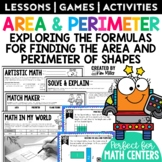 Area & Perimeter Task Cards: Math Center, Scoot Game, Test Prep