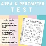 Area & Perimeter Test