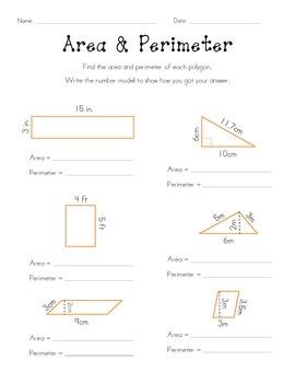 Area & Perimeter Using Formulas