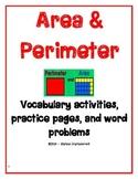 Area & Perimeter Vocabulary, Practice & Word Problems