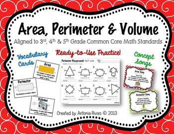 Area Perimeter Volume Teaching Resources | Teachers Pay Teachers