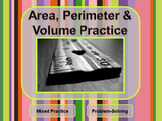 Area, Perimeter & Volume Practice - Problem-solving with Measurement