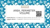 Area, Perimeter, Volume QR Task Card Sort