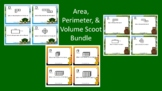 Area, Perimeter, & Volume Scoot Activity/Task Card Bundle