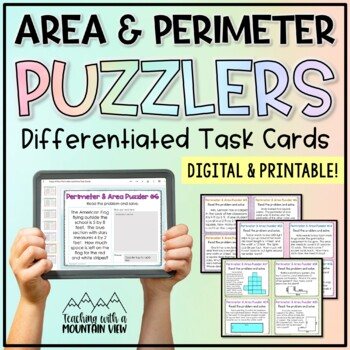 area and perimeter word problems by teaching with a mountain view teachers pay teachers. Black Bedroom Furniture Sets. Home Design Ideas