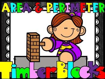 Area & Perimeter Word Problem Timber Blocks (Jenga Based or Board Game)