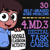 Area & Perimeter Word Problems ★ 4th Grade Google Classroom ★ 4.MD.3 Task Cards
