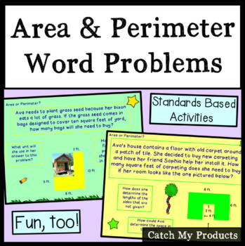 Area and Perimeter Word Problems of Irregular Shaped Rectangles Promethean Board