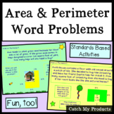 Area and Perimeter Word Problems of Composite Figures