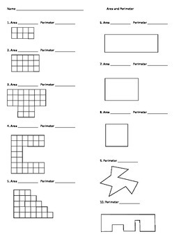 Area & Perimeter Worksheet