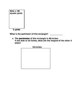 Area/Perimeter Worksheet