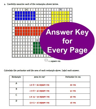 Area & Perimeter Worksheet Bundle