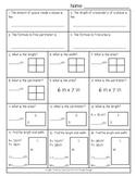 Area Perimeter Worksheet Common Core Grade 4 Math