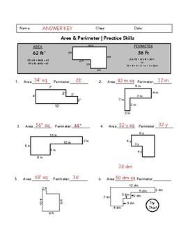 Area & Perimeter Worksheets