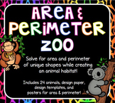 MATH REVIEW: Area and Perimeter Zoo Project