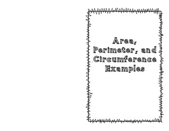 Area, Perimeter, and Circumference Booklet