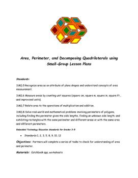 Area, Perimeter, and Decomposing Quadrilaterals Using Catchbook