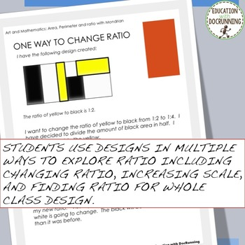 Area, Perimeter and Ratio through Mondrian Art Middle School Math Project