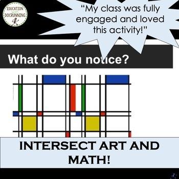 Area, Perimeter and Ratio through Mondrian Art Middle School Math Project