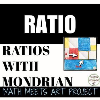Area, Perimeter and Ratio through Mondrian Art Middle Scho