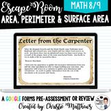 Area , Perimeter and Surface Area Escape Room - Renaissance Theme - Alberta
