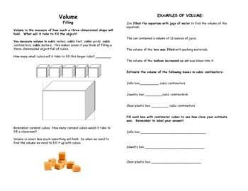 Area, Perimeter, and Volume Book