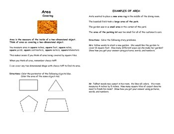 Area, Perimeter, and Volume Book