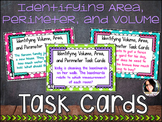 Area, Perimeter, and Volume Differentiated Task Cards COMMON CORE ALIGNED