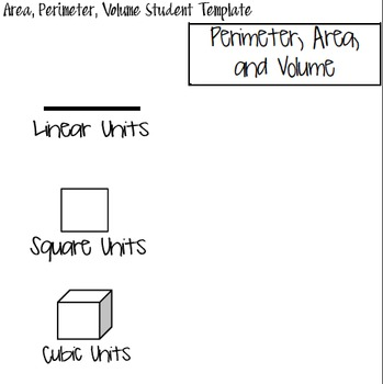 Area, Perimeter and Volume Foldables
