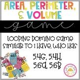 Area, Perimeter, and Volume Game