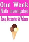 Area, Perimeter and Volume Math Investigation Ice Cream