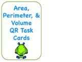 Area, Perimeter, and Volume QR Task Cards