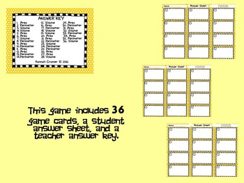 Area, Perimeter, and Volume Situations Game