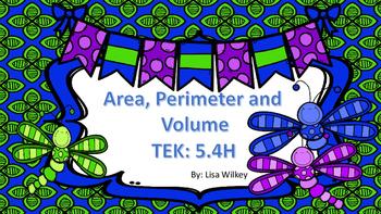 Area, Perimeter and Volume - TEK 5.4H