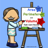 Area Perimeter and Volume Task Card Bundle