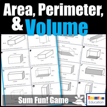 Area, Perimeter, and Volume Task Card Game