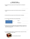 Area, Perimeter, and Volume Worksheet