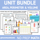 Area, Perimeter and Volume unit BUNDLE