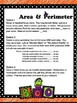 Halloween-themed Area & Perimeter differentiated assignmen