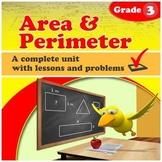 Area & Perimeter - grade 3 common core (Distance Learning)
