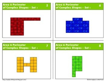 Area & Perimeter of Complex Shapes - Set 1 {Math Task Cards}