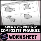 Area & Perimeter of Composite Figures Worksheet