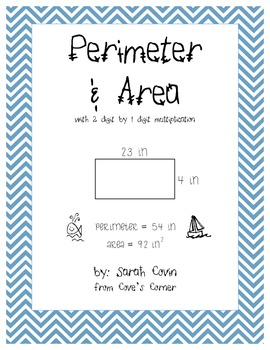 Area & Perimeter with 2 digit x 1 digit multiplication