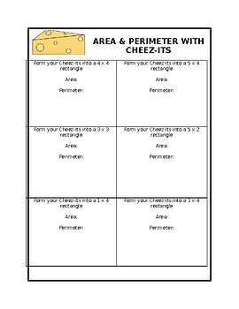 Area & Perimeter with Cheez-Its!
