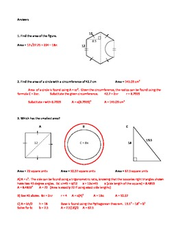 Area of polygons assessment teaching resources teachers pay teachers area polygons irregular figures quiz with answers area polygons irregular figures quiz with answers fandeluxe Choice Image
